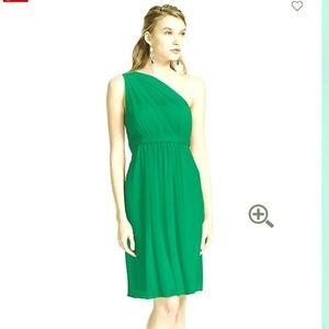 One Shoulder Short Dress with Illusion Neckline
